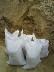 Песок в мешках овражный по 50кг.