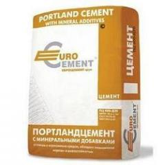 Portland M500 cement in bags on 25 kg.