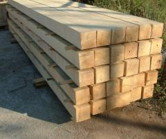 Beam wooden, the wood for a roof in Nikolaev