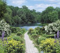 Photowall-paper Garden landscape