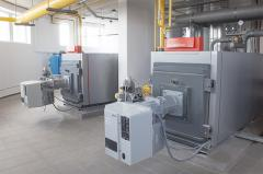 Roof boiler rooms. Modular boiler rooms. Boiler