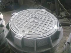 Reinforced-concrete flumes, heavy manholes, easy,