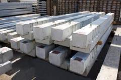 Crossbars are wind reinforced concrete, concrete