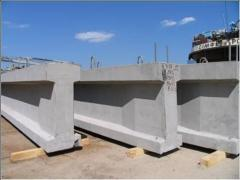 Beams of compound section reinforced concrete,