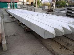 Piles for reservoirs reinforced concrete, concrete