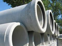 Pipes are reinforced concrete free-flow, concrete