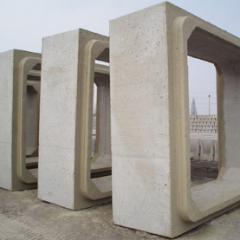 Pipes are reinforced concrete rectangular,