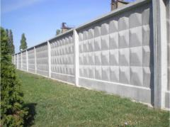 Fencings are reinforced concrete,  concrete...