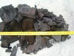 Древесный уголь из твердых, фруктовых пород