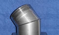 Колено 45° позволяет менять направление дымохода