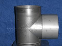 Тройник с углом 87º одностенный для отвода
