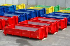 Waste hooklift containers, skip containers,