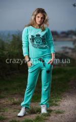 Спортивный костюм Juisi минт, женская одежда оптом