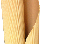 Packaging from the two-layer corrugated cardboard