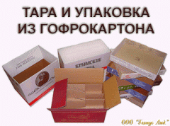 Container and packaging from the corrugated