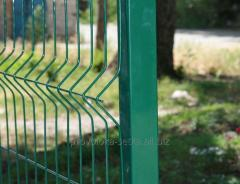 3D fence: section 1.8x2.5m Ø4mm, galvanized with a