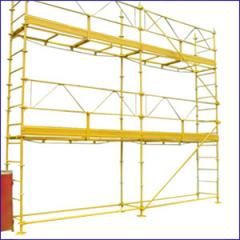Tubular bricklayer's scaffold frame, wedge,