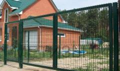 Ворота ТМ Казачка высота 1,68; ширина 4,0 м оцинкованные в полимере