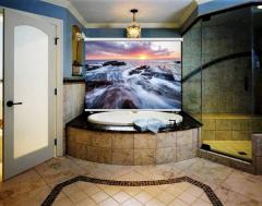 Фото рулонные шторы в ванную