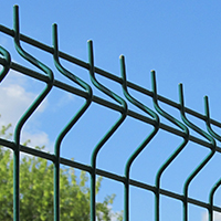 3D fence: section 1.5x2m Ø4mm galvanized with a