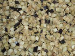 Eggplant cubes frozen