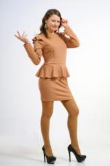 Платье с баской: Модель 005-1