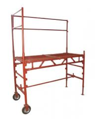 Scaffolding construction with barrier 1,7kh0,745m