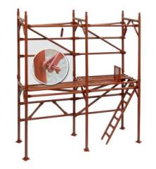 Front bricklayer's scaffold type rack portic