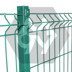 Забор металлический из проволочных секций ТМ Казачка, покрытие: цинк и полимер. Секция 1,5х2,5 м