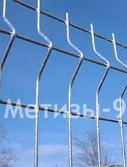 3Д забор: секция 1,5х2м, Ø5мм, горячеоцинкованная 320г/кв.м ТМ Казачка, забор из проволочных панелей