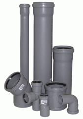 Трубы и фитинги для внутренней канализации ПП и ПВХ