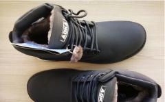 Ботинки зимние нубук на цигейке.