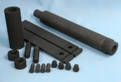 Production of graphite details, thermal knots,