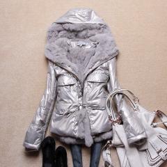 куртка женская двусторонняя с мехом рекса