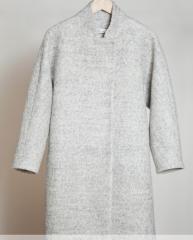 Пальто шерстяное серое ( женское)