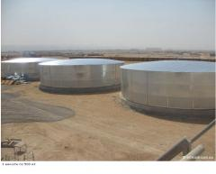Tanks for storage of water and aggressive