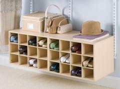 Полки и стойки для обуви под заказ для гардеробных