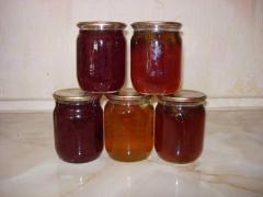 Jam from ginger, etc. in assortmen