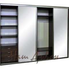 Sliding wardrobe with a mirror, ready sliding