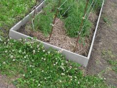 Borders an agroboard for a garden, giving, beds,
