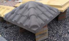 Крышка на столб бетонная
