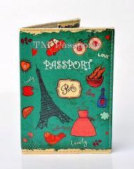Cover on the passport Paris