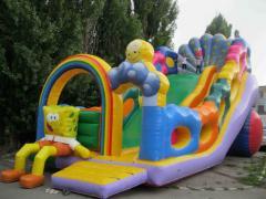 Hills (inflatable, trampoline: Sponge Bob) the