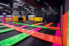 Sports and entertaining trampoline center