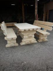 Садовая мебель из оцилиндрованого бруса