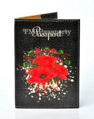 "Cover on the passport ""Poppies"