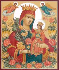 Icon Fadeless color Blessed Virgin Mary