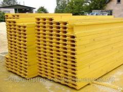 N-20 beam dvutavrovy wooden for a horizontal