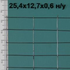 Сетка сварная неоцинкованная 25,4*12,7*0,6 мм, сетка для штукатурных работ