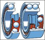 Radial-stop ball-bearings